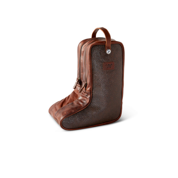 Leather Cowboy Boot Bag